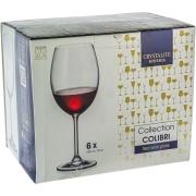 Jogo de Taças Água/Vinho Cristal 580ml 6 Peças - Crystalite Bohemia