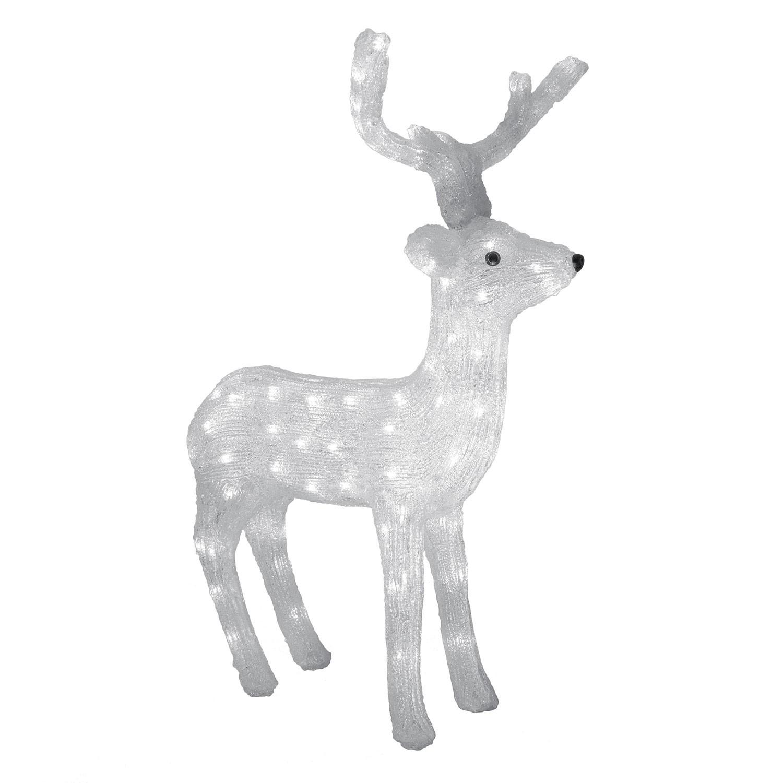 Rena de Natal de Led Acrilico 110V Branco - Ecoline