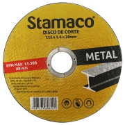 Disco de Corte Óxido de Alumínio 115 x 1,6 x 20,00mm - Stamaco