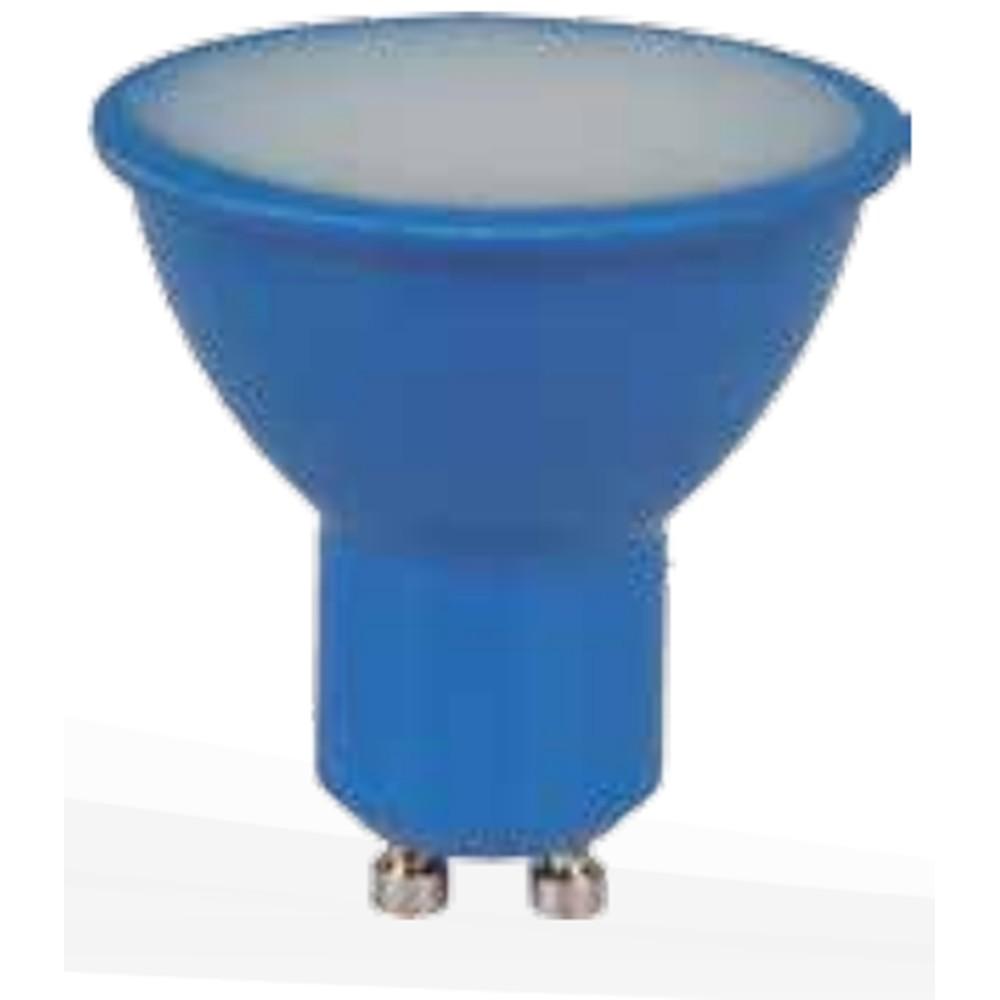 Lampada LED Dicroica 4W Luz Azul E27 Bivolt - Ourolux