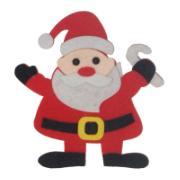 Enfeite de Porta Papai Noel 12 cm - Nat-Fel14