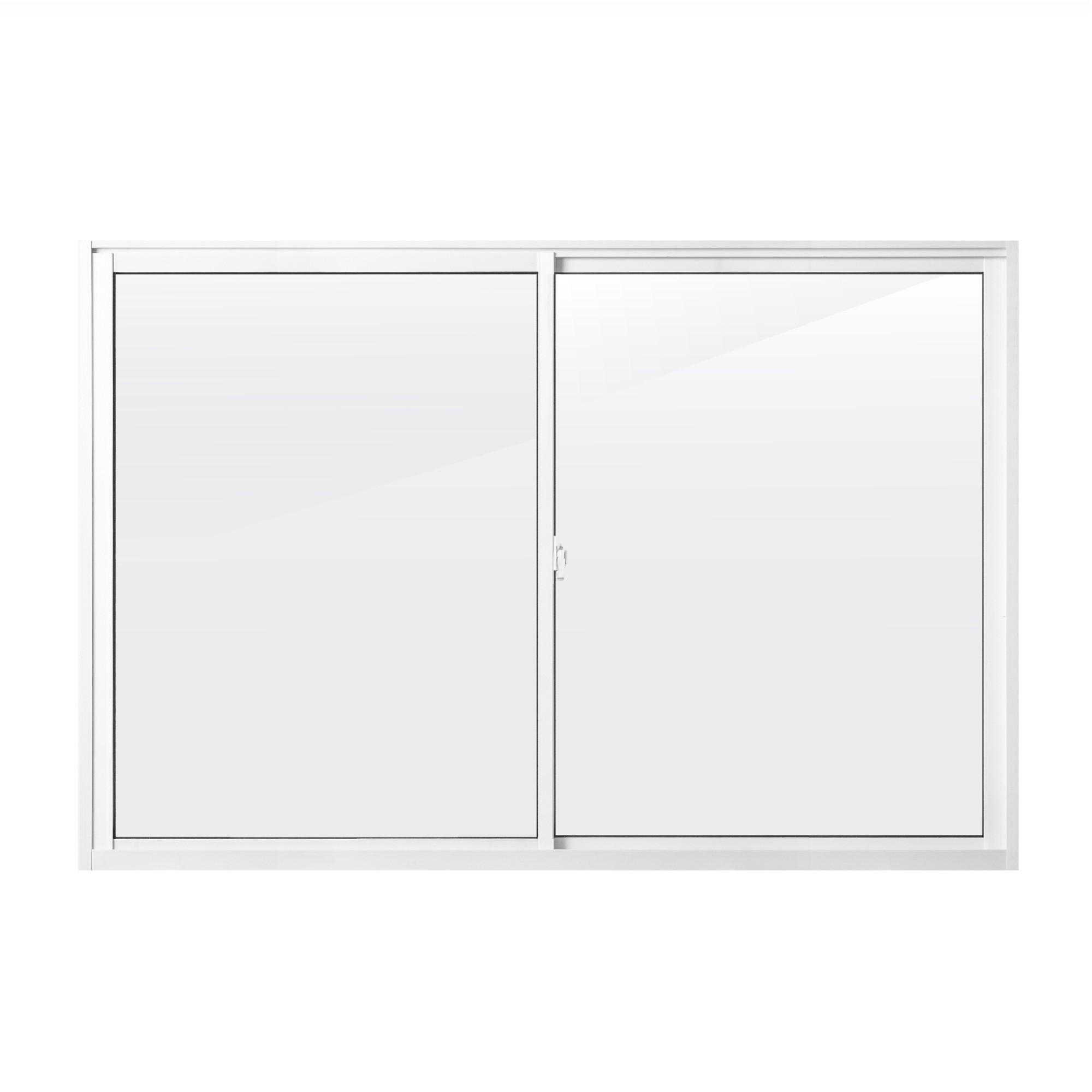 Janela de Correr de Aluminio 2 Folhas 100x150 cm Metalflex - Aluvid