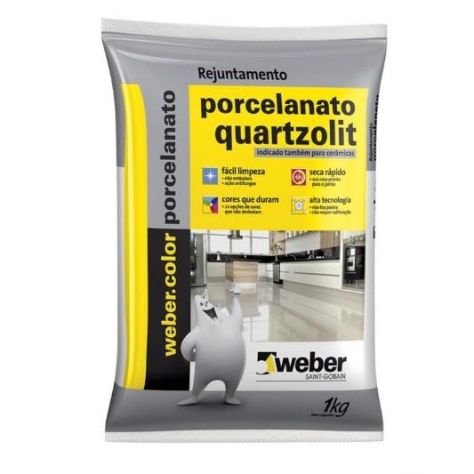 Rejunte Porcelanato Weber Preto grafite Saco 1kg - Quartzolit