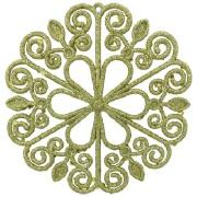 Enfeite de Árvore Natalina Floco de Neve 12 cm Dourado - 21764001