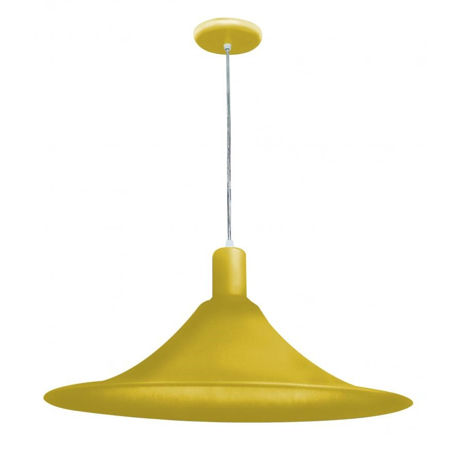 Lustre Aquarela de Aluminio para 1 Lampada Amarelo CH040ALAMPD - Llum