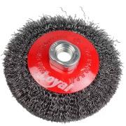 Escova Circular Aço Carbono 100 mm Ondulada Rosca M14 - Loyal