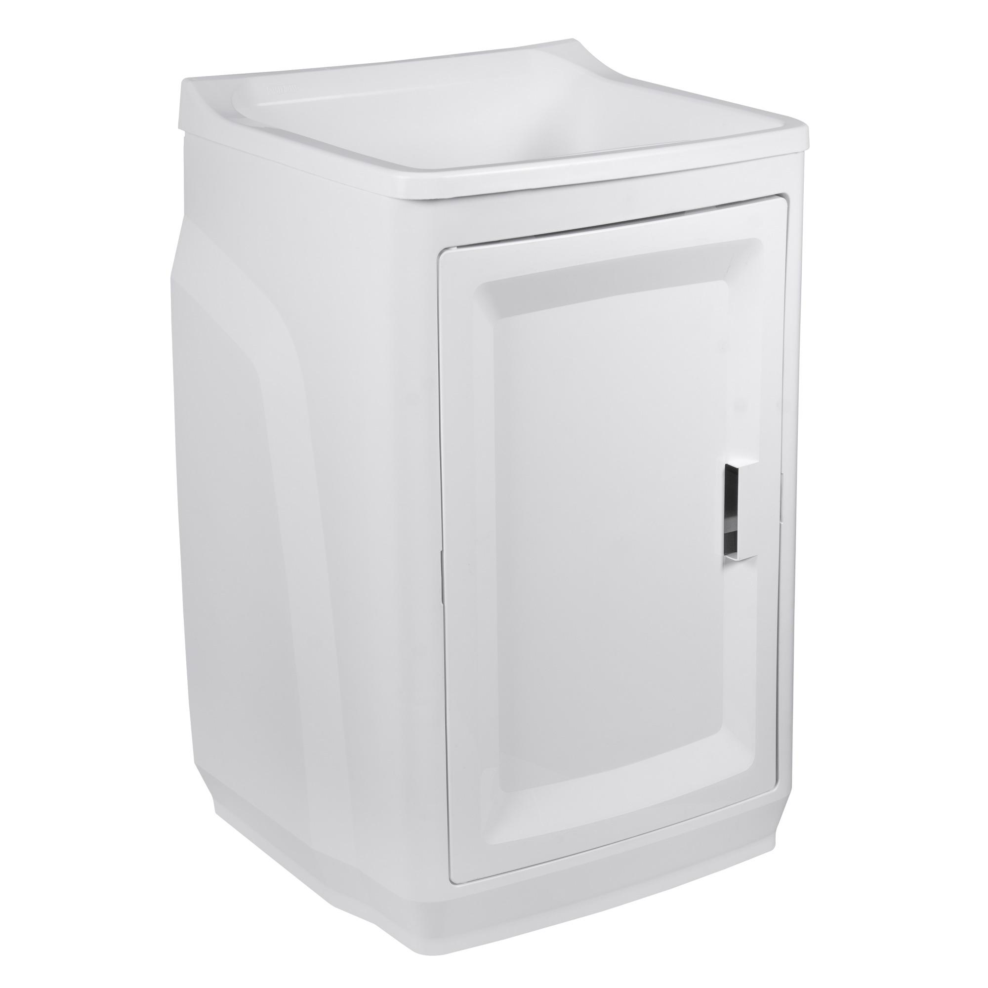 Tanque Plastico com Gabinete com Kit Instalacao Branco - Astra