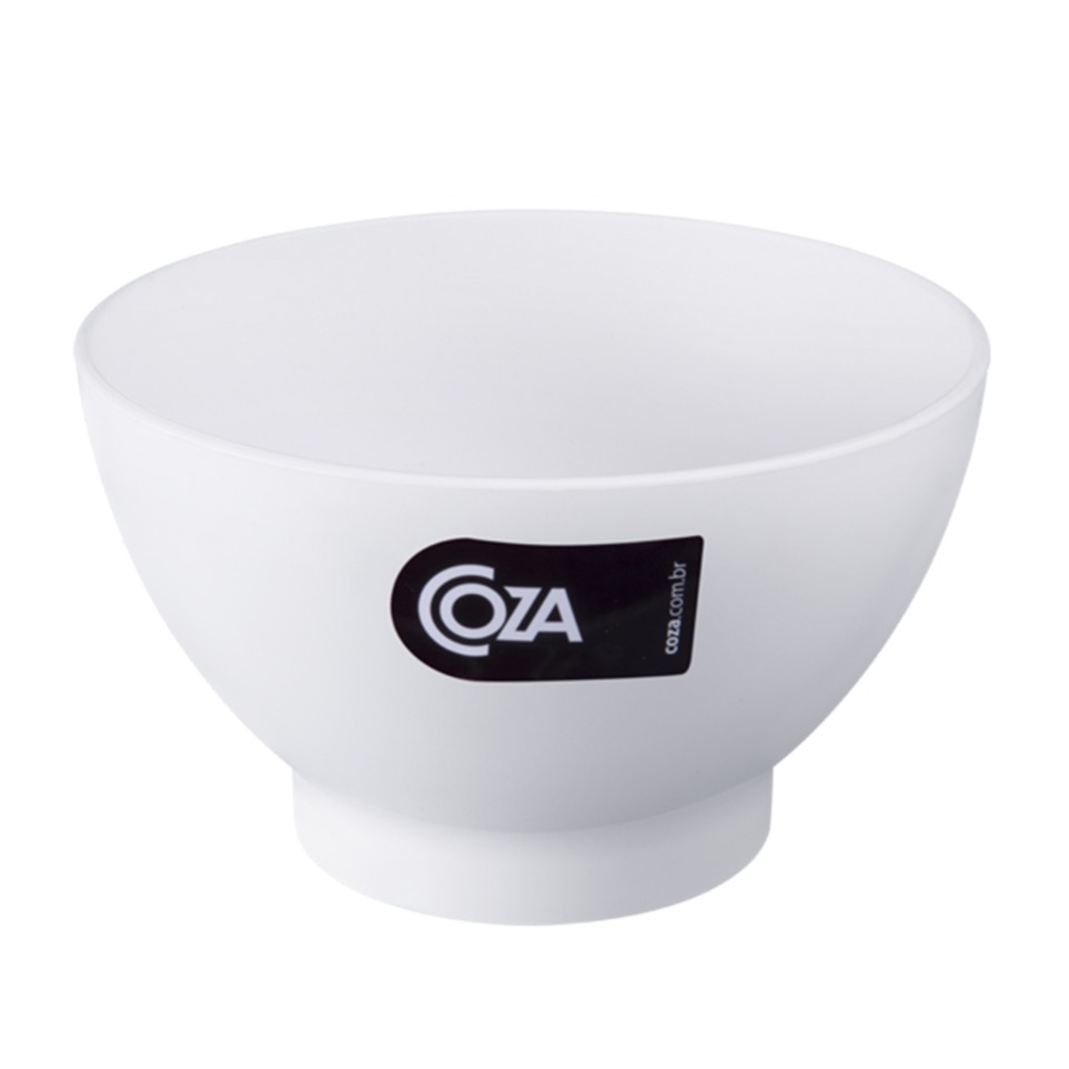 Tigela de Plastico Cereal 300ml Branca 10117 - Coza