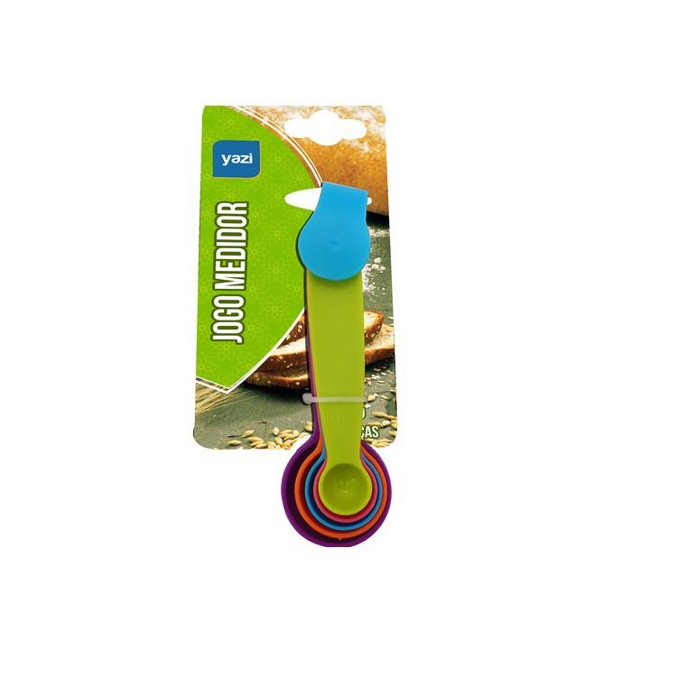 Medidor Colher de Plastico com 5 Unidades Colorido - Yangzi