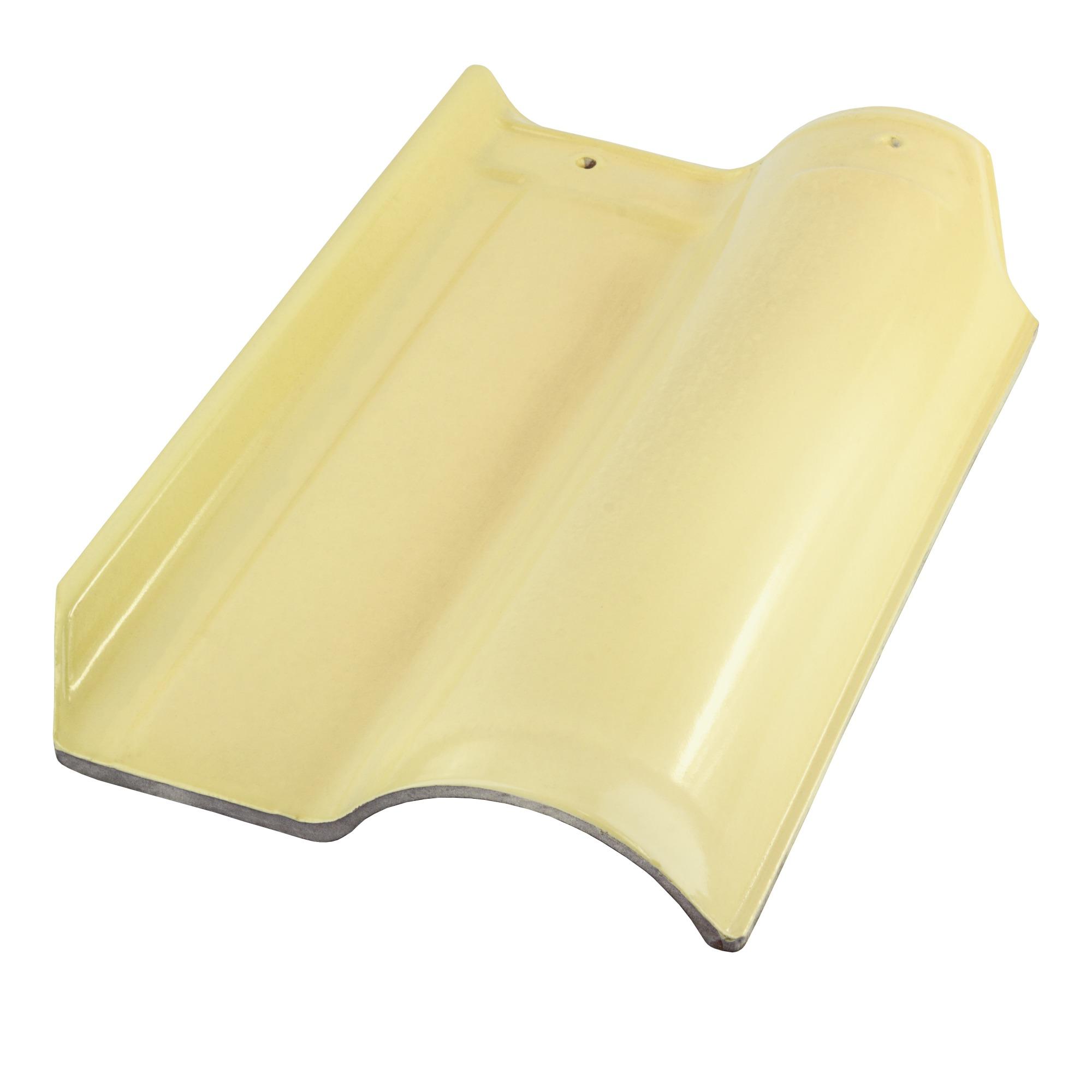 Telha Ceramica Esmaltada 420x258cm 1 Face Marfim - Cerbras