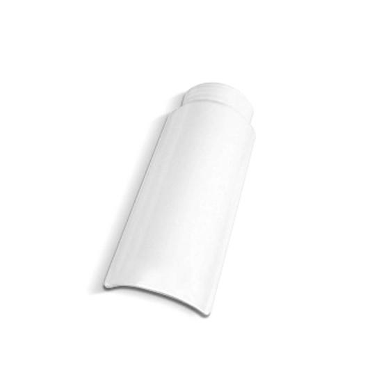 Telha Cumeeira de Ceramica 186x423 cm Branca - Cerbras