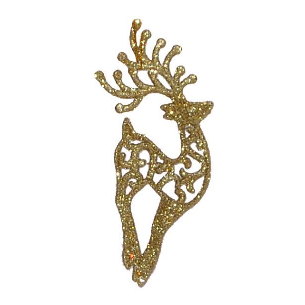 Enfeite de Arvore de Natal Rena 14 cm Dourado - 17908002