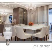 Lâmpada LED Vela C35 4W Luz Amarela E14 Bivolt - Glight