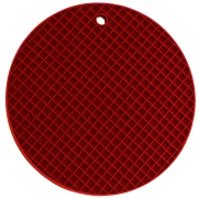Descanso de Panela Redondo de Silicone 18 cm Vermelho Escuro - Yangzi