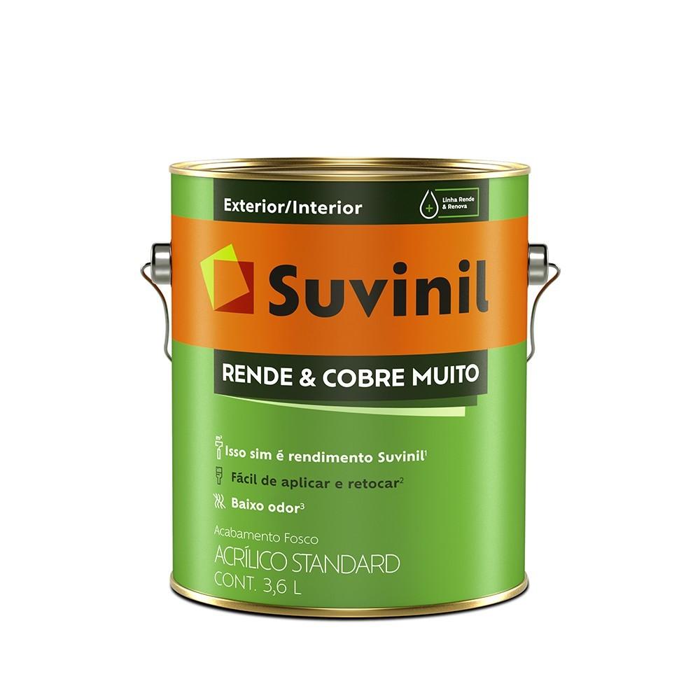 Tinta Acrilica Fosco Standard 36L - Concreto - Rende e Cobre Muito Suvinil