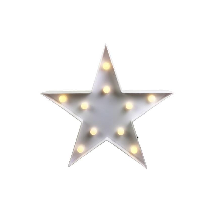 Enfeite Decorativo Estrela Luminosa 27cm Branco - Dea