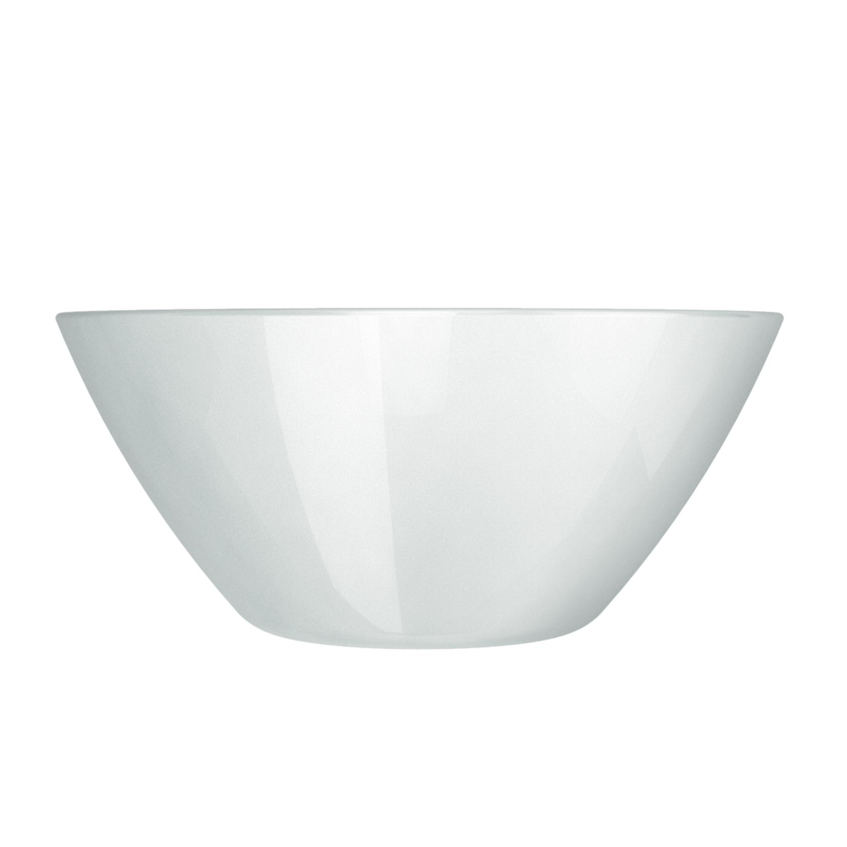 Saladeira Funda de Vidro Blanc 840ml Branco - Nadir