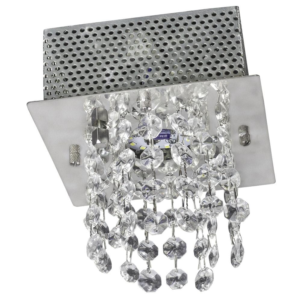 Plafon de Sobrepor Quadrado 1 Lampada 14cm Prata - Llum