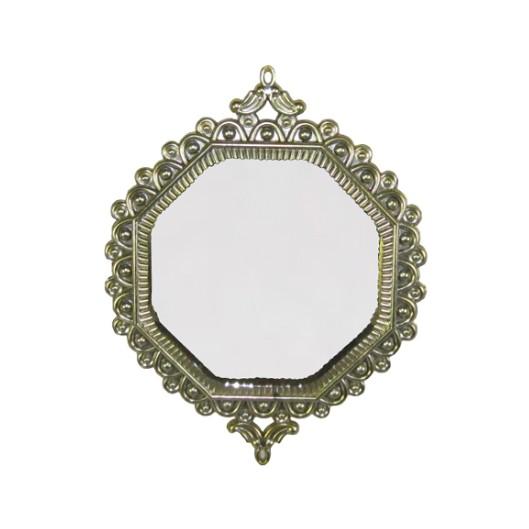 Enfeite de Arvore Natalina Espelho 16 cm Dourado - 22002002