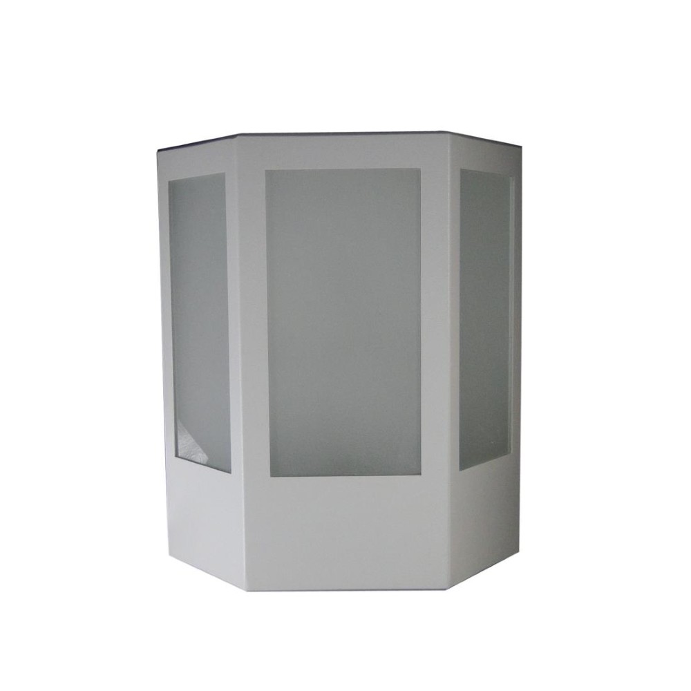 Arandela de Aluminio Pedro Branca 1 Lampada 140 - Femarte
