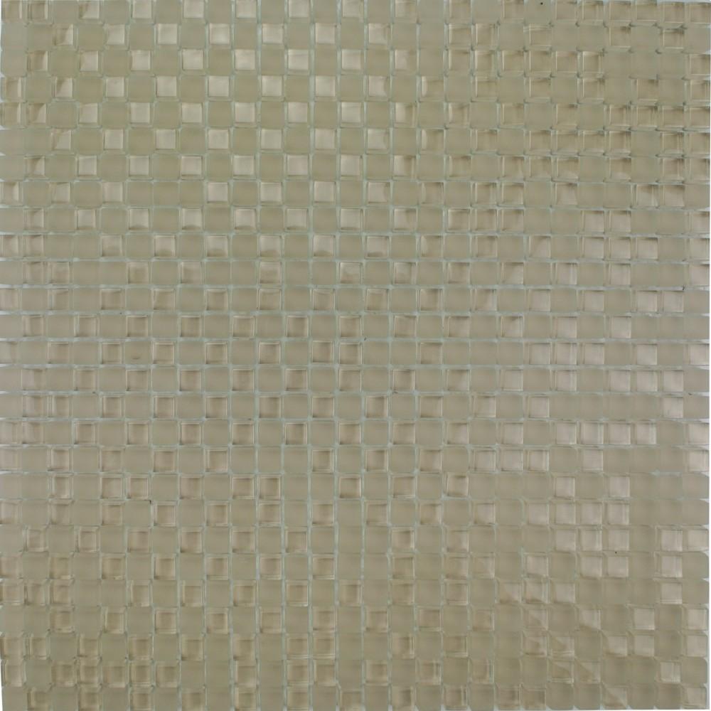 Pastilha de Vidro Brilhante 10x10cm Bege - ML048C - Jolie