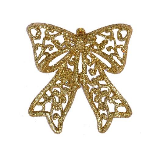 Laco Natalino Glitter 9 cm Dourado - 17873002