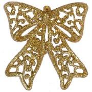 Laço Natalino Glitter 9 cm Dourado - 17873002