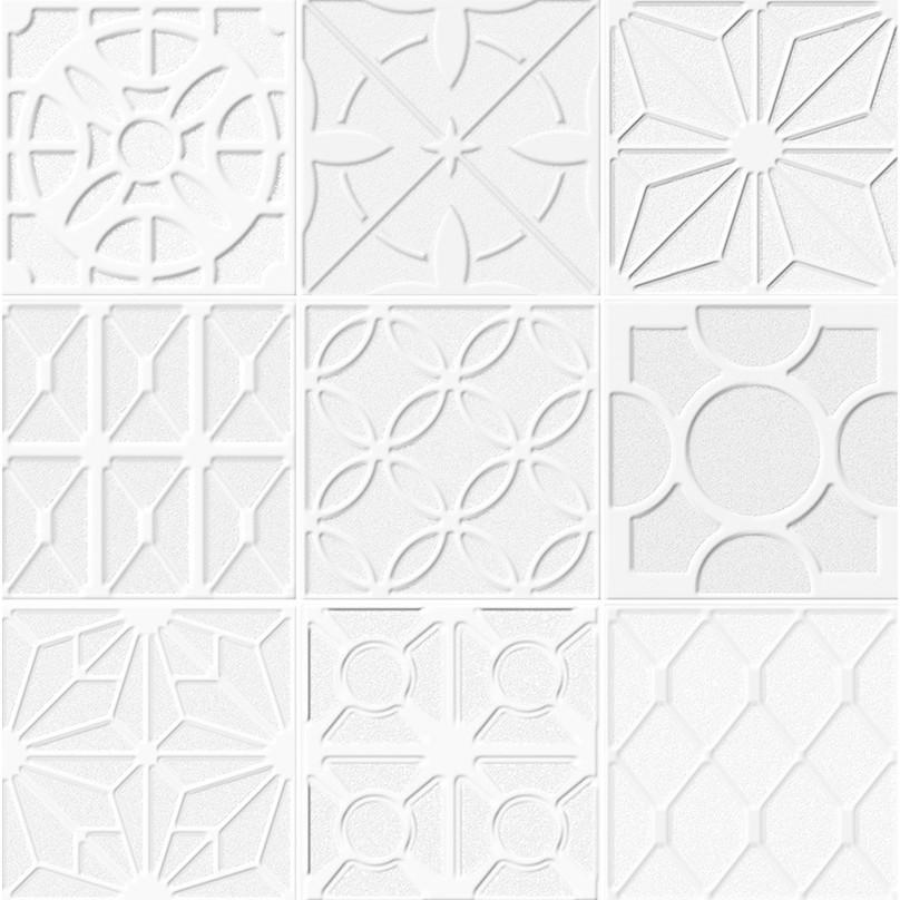 Ceramica Gres Capolavoro Relevo Tipo A Borda Bold 62x62cm Branco - Livre