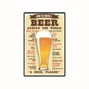 Placa Decorativa em MDF 29x19 cm Beer 5080 - Cia Laser