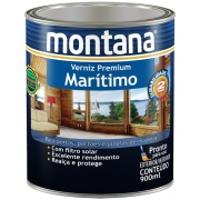 Verniz Marítimo Acetinado - Natural - 0,900L - Montana