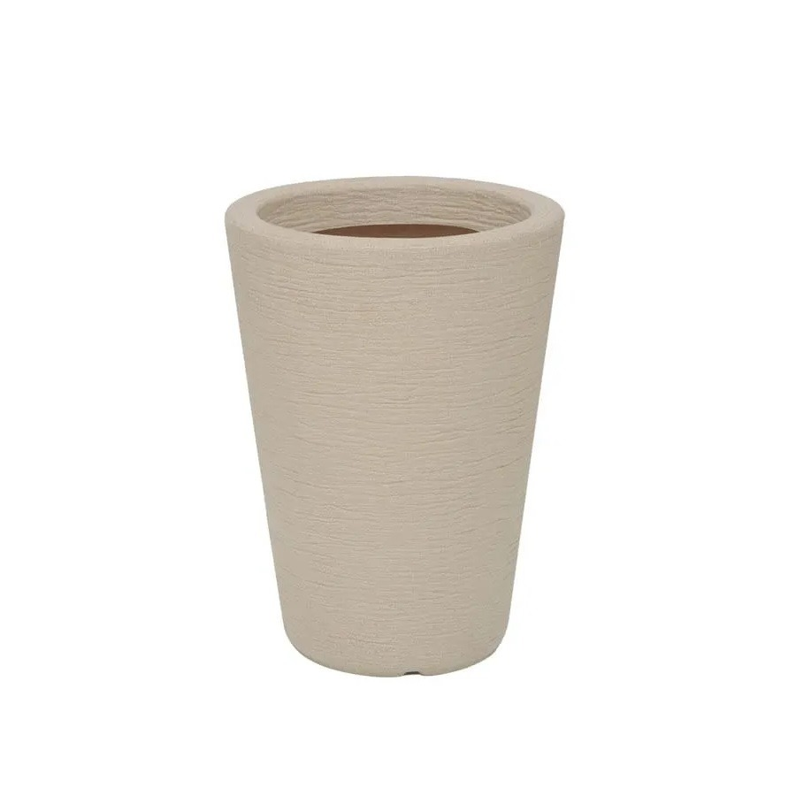 Vaso para Plantas Plastico 40x30cm Cone Areia - Vasart