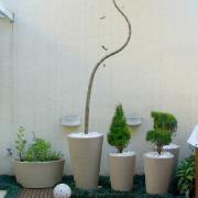 Vaso para Plantas Plástico 40x30cm Cone Areia - Vasart