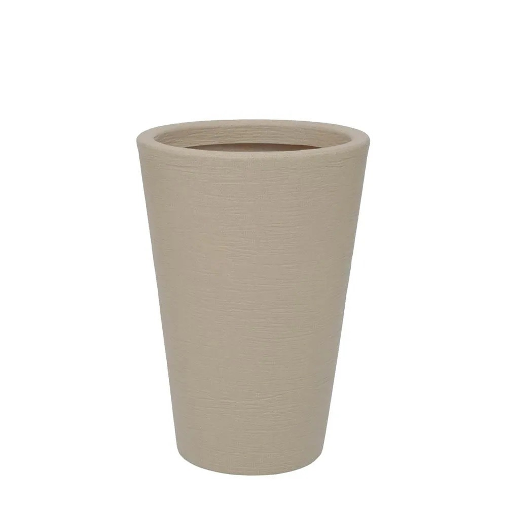 Vaso para Plantas Plastico 55x38cm Cone Areia - Vasart