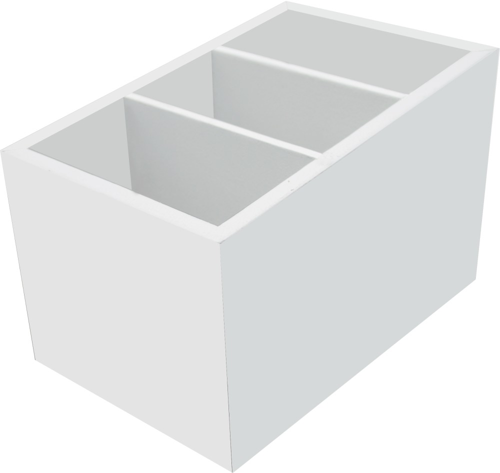 Porta Controle Remoto com 3 Divisorias Branco - Kapos