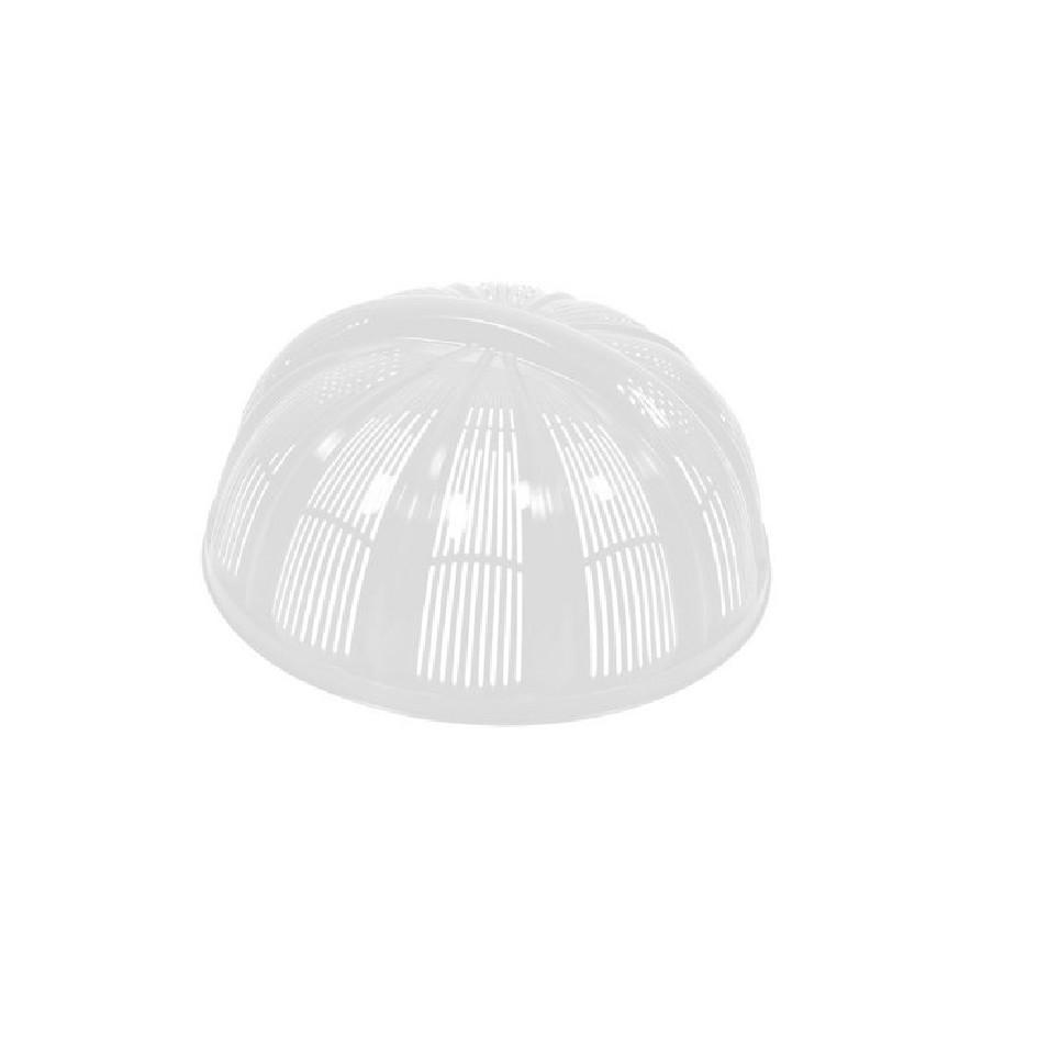 Cobre Bolo de Plastico 25 cm Branco - Plasutil
