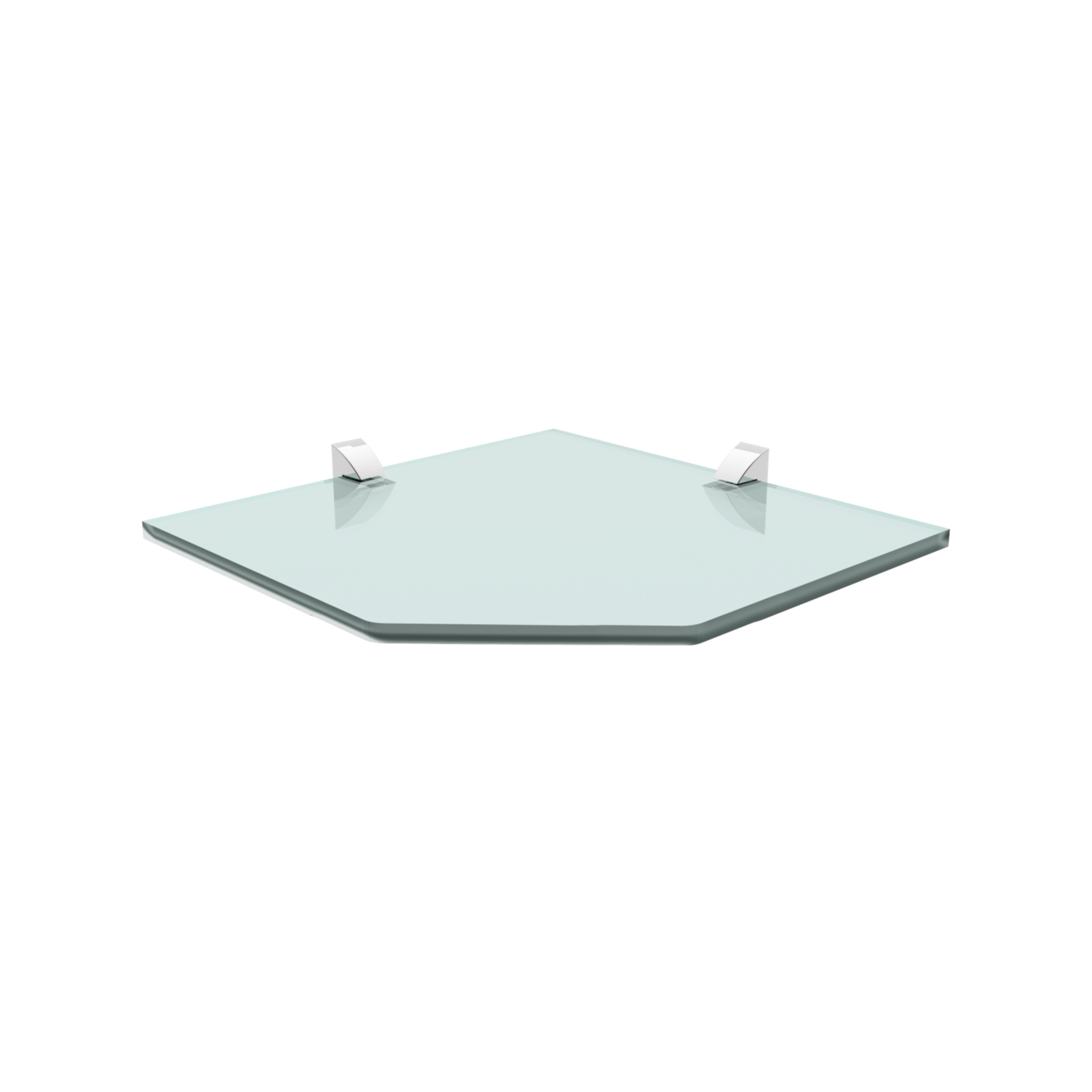 Prateleira de Vidro Recorte 25x25cm Incolor - Prat-k