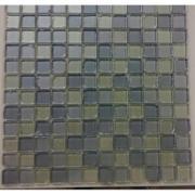 Pastilha de Alumínio Escovado 5x5cm Prata - VT0392C1260 - Vetromani