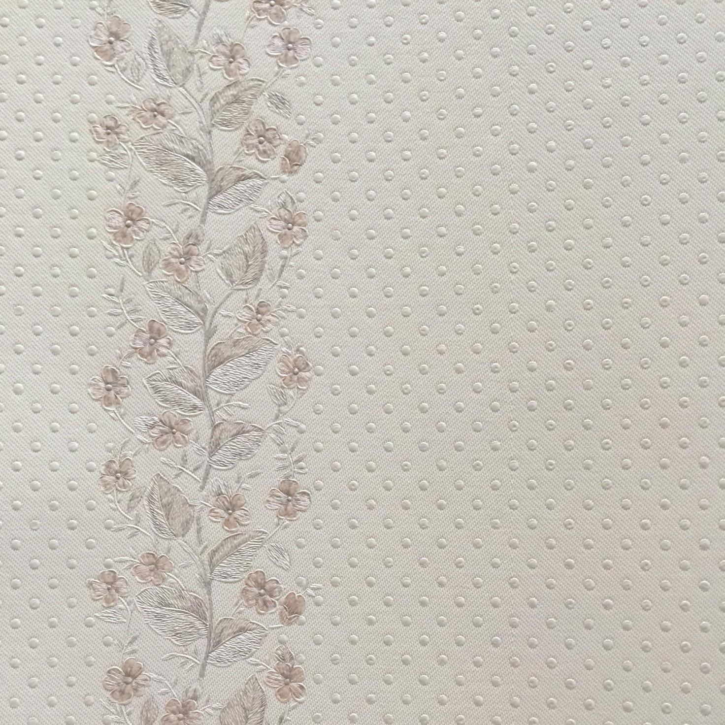 Papel de Parede Vinilico Texturizado Floral Branco AW079 - Jolie