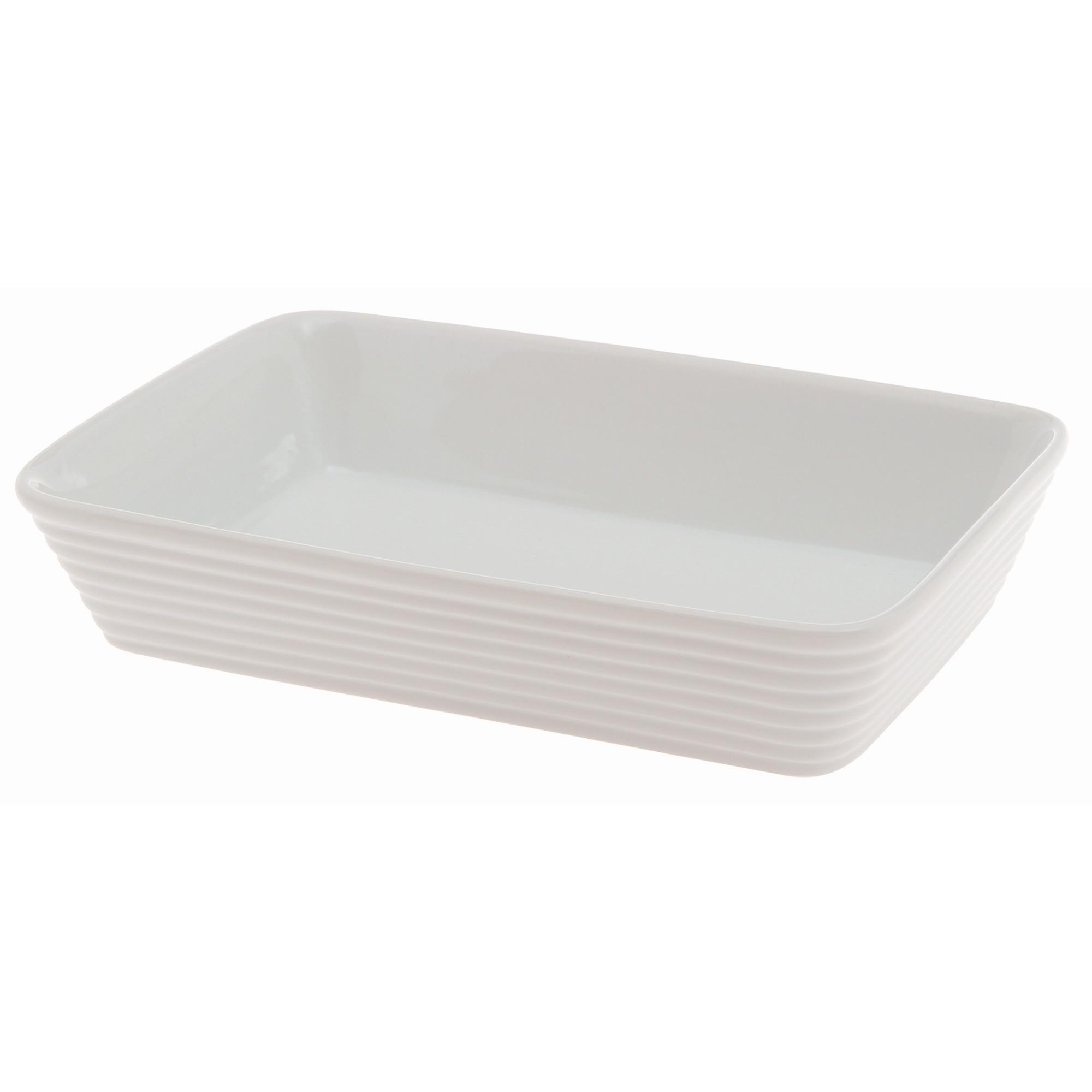Travessa de Porcelana 18cm Branco - Casa Ambiente