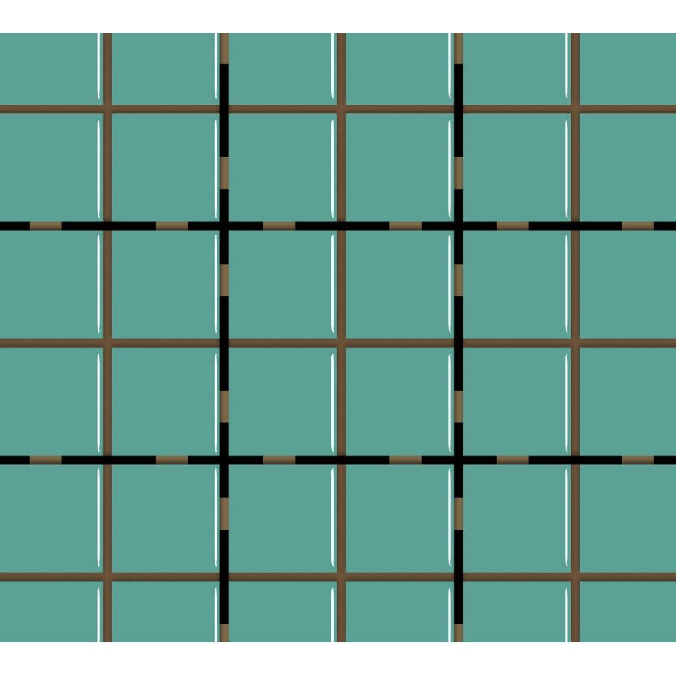 Revestimento Square Verde Esmeralda Brilhante Tipo A Borda Bold 10x10cm 162m Verde Esmeralda - Eliane