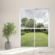 Porta Balcão de Alumínio 2 Folhas 210x160cm Branca Metalflex - Aluvid