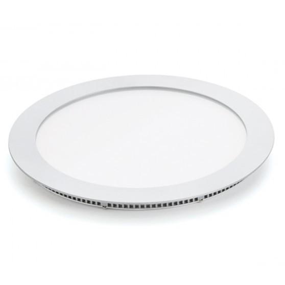 Luminaria Redonda Embutir Aluminio Branca 18W 110220V - BV - Ecoline