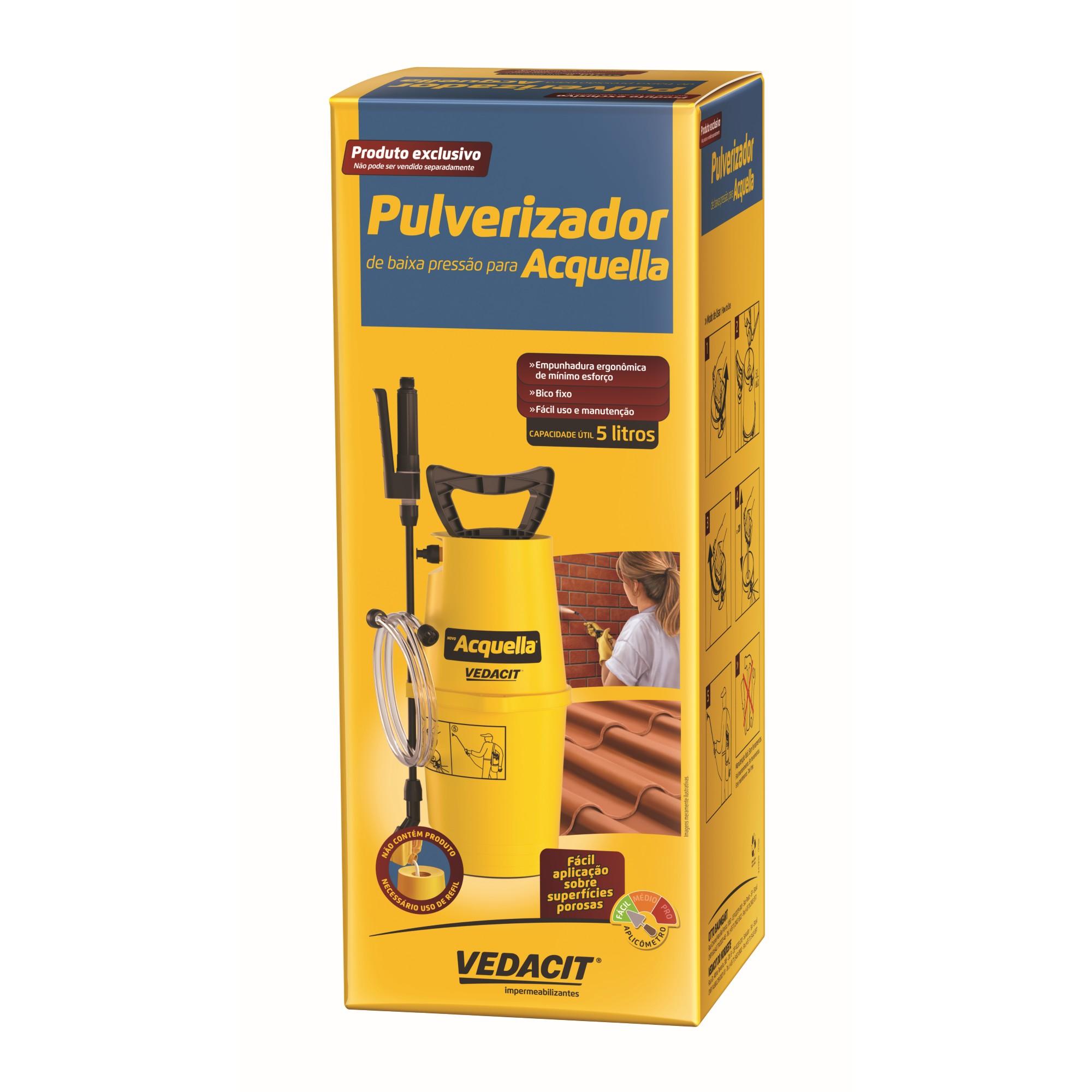 Kit Impermeabilizante para Fachadas Acquella 5L Pulverizador - Vedacit