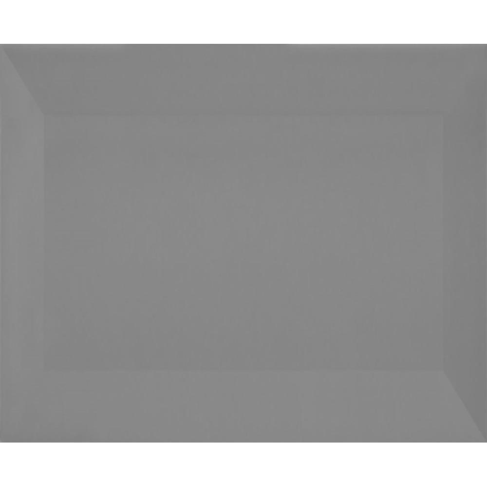 Revestimento Metro Gray Brilhante Tipo A Borda Bold 10x20cm 100m Cinza - Eliane