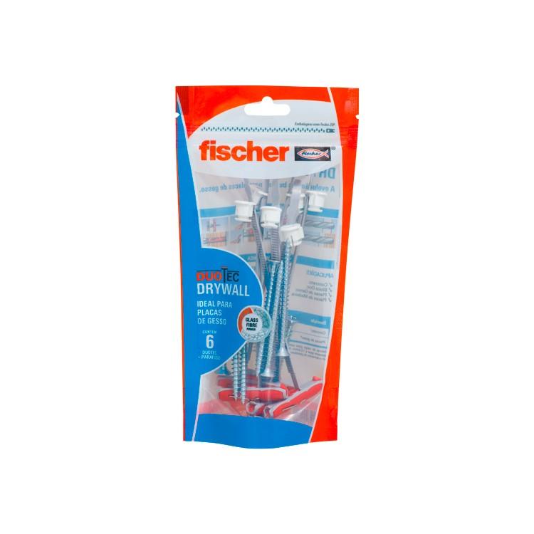 Bucha e Parafuso Duotec 6 Unidades 600288 - Fischer