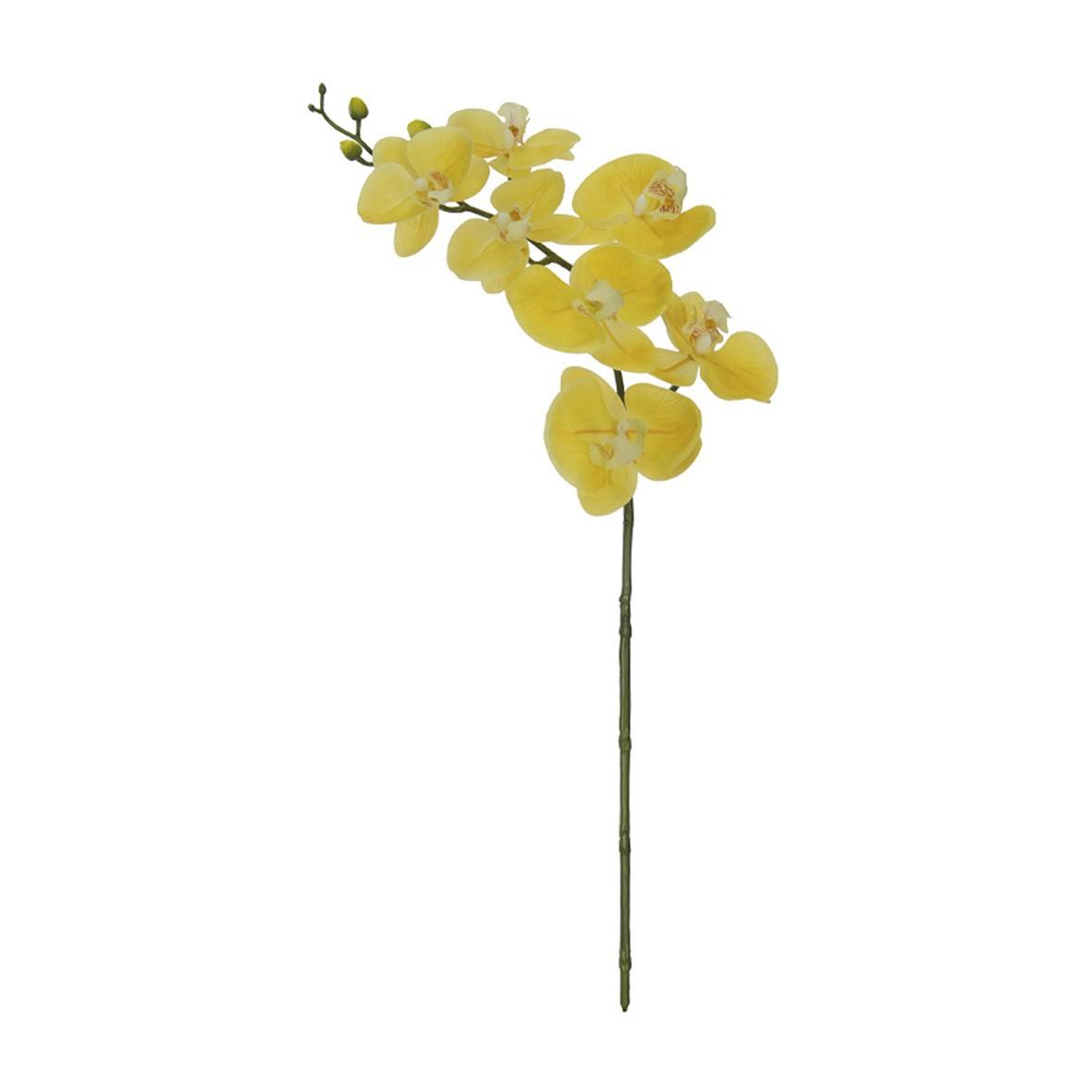 Haste Artificial Orquidea 63cm Amarela
