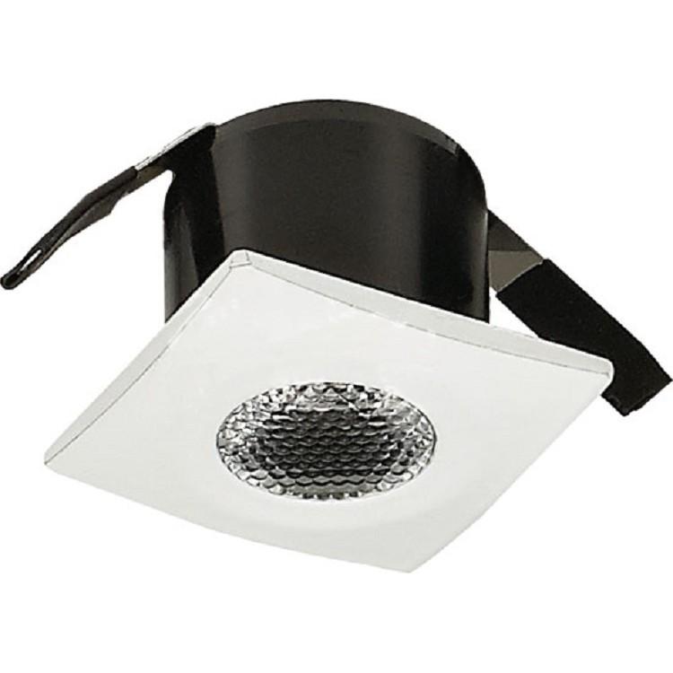 Spot LED de Embutir Aluminio Quadrado 20w Amarela - Ecoline Tech