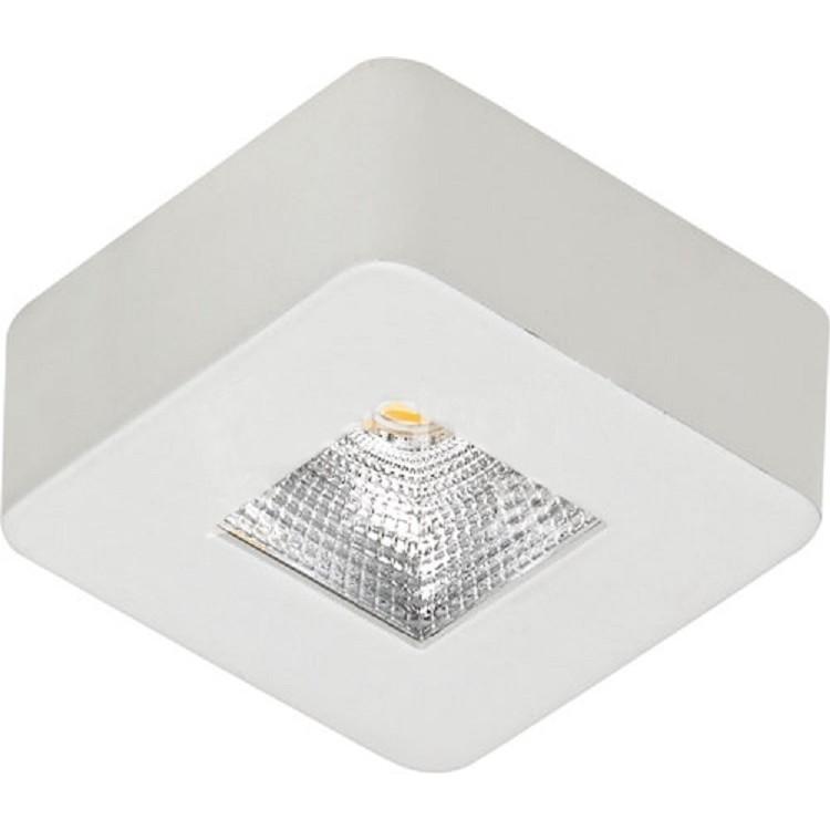 Spot LED de Sobrepor Aluminio Quadrado 50w Amarela - Ecoline