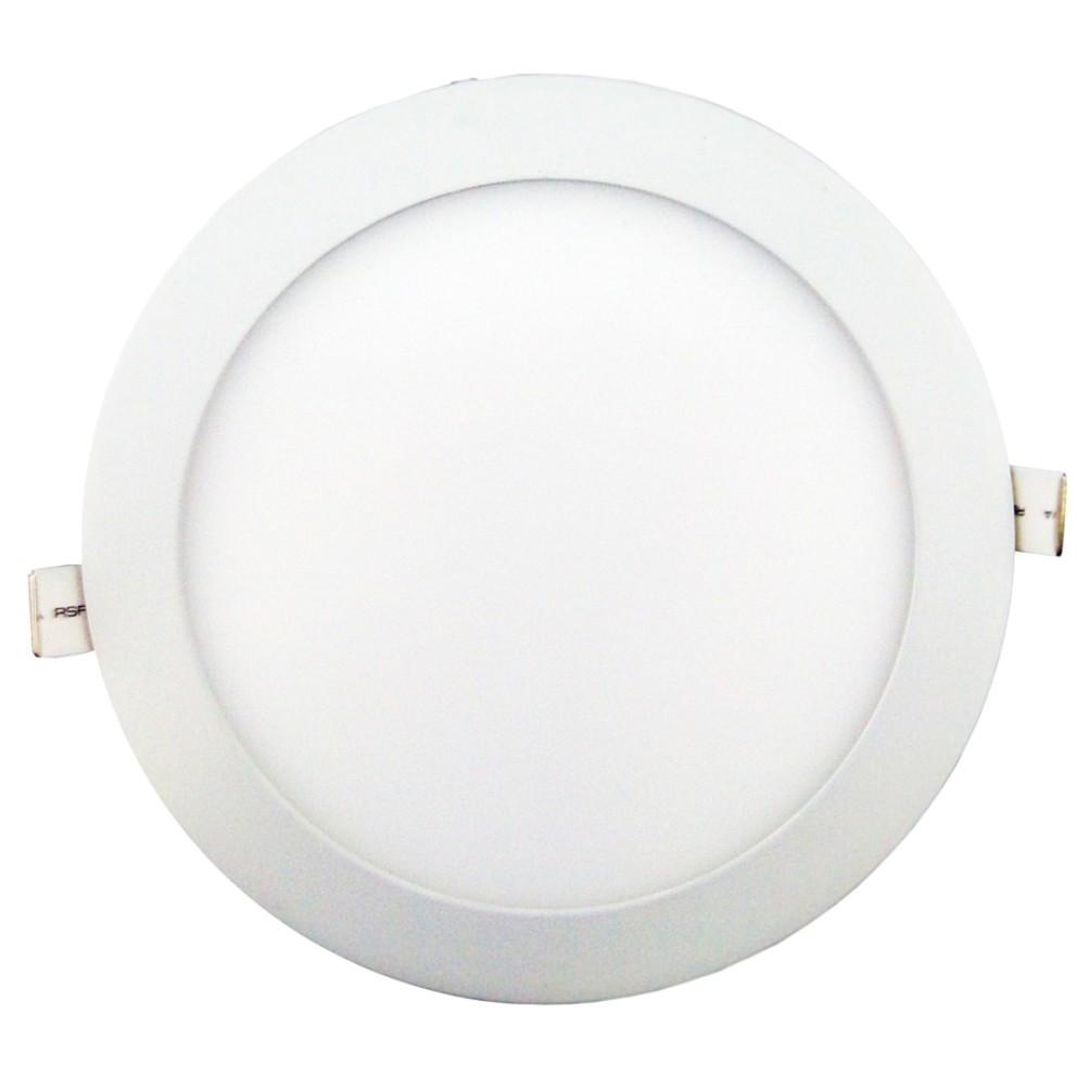 Luminaria Redonda Embutir ABS Branca 24W 110220V - LMB0180-24 - Ecoline