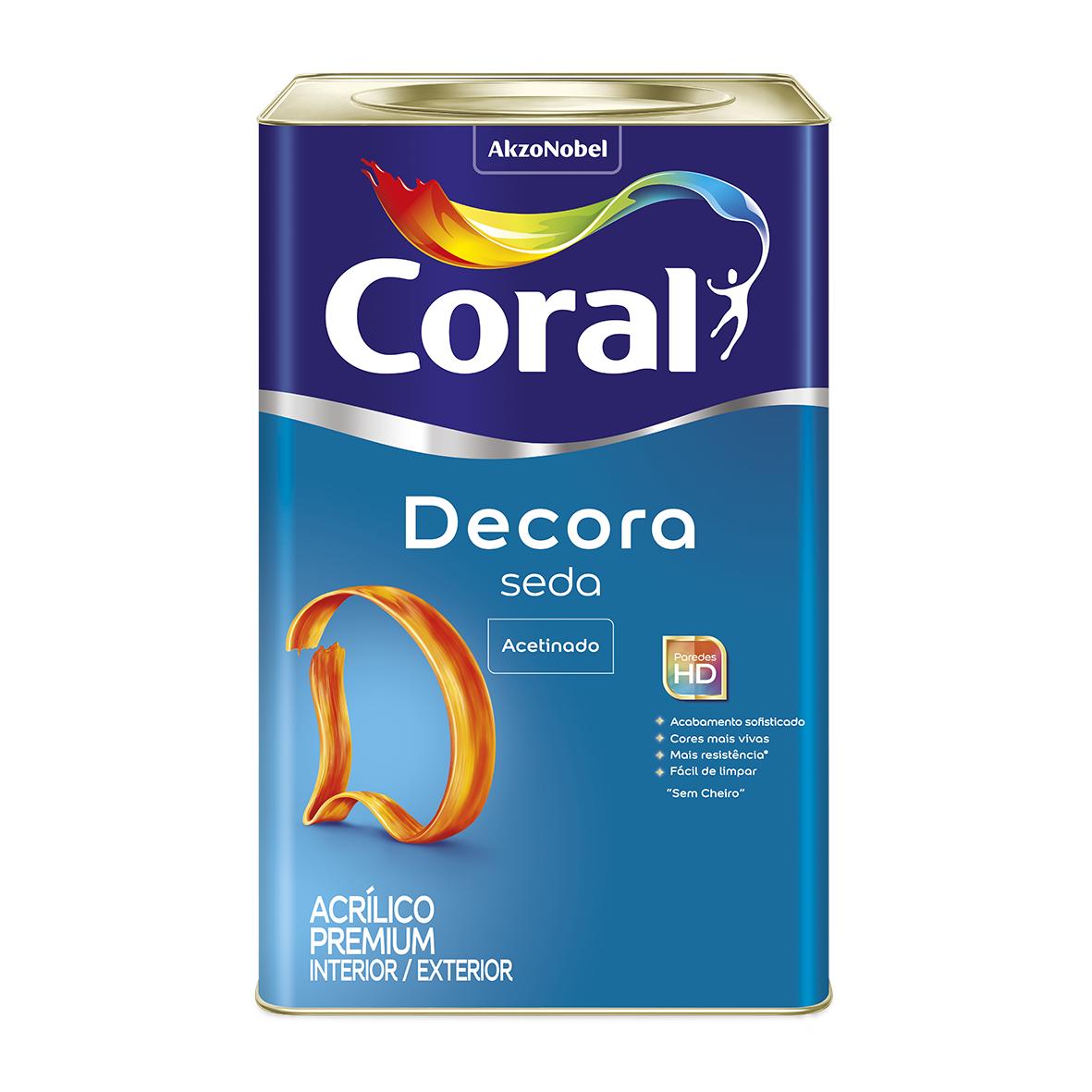 Tinta Acrilica Acetinado Premium 18L - Branco Neve - Acabamento Seda Coral